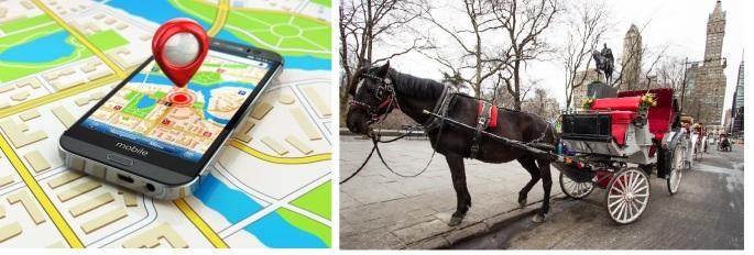 GPS-Carruagem